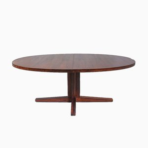 Danish Oval Rosewood Dining Table by John Mortensen for Heltborg Møbler, 1960s