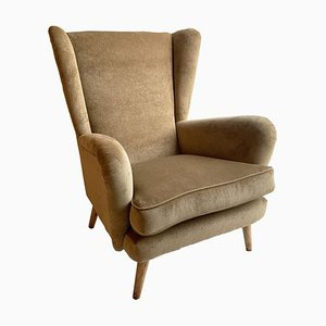 Mid-Century Wingback Armchair by Howard Keith