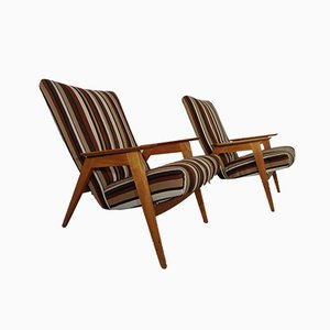 German Cherry Armchairs by Walter Knoll for Knoll Antimott, 1950s, Set of 2