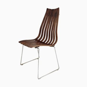 Norwegian Rosewood Scandia Side Chair by Hans Brattrud for Hove Møbler, 1956