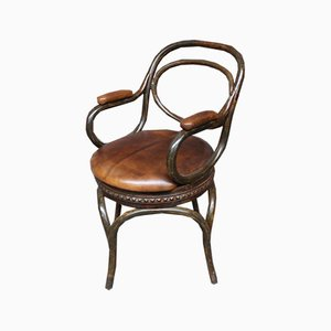 Vintage Revolving Metal Armchair
