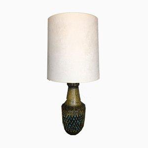 Große Italienische Mid-Century Keramik Tischlampe, 1950er