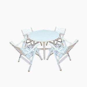 Vintage Reguitti Gartentisch und Stühle Set