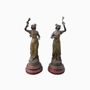 Antimony Female Figures, Set of 2