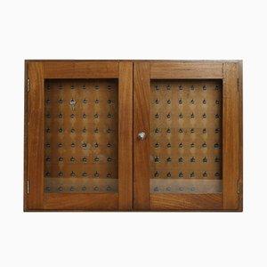 Vintage Glass Key Cabinet