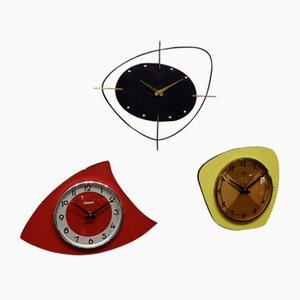 Vintage Triptych Clock Set, 1950s