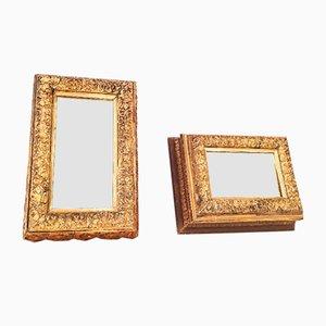 Verzierte vergoldete Spiegel, 1990er, 2er Set