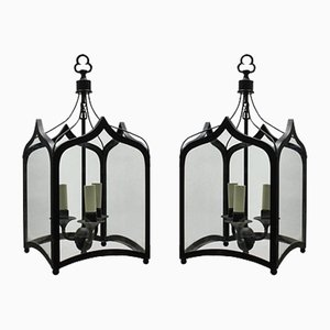 Gothic Style Iron Ceiling Lamps, 1960s, Set of 2