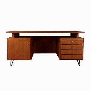 Teak Furnier Schreibtisch, 1950er