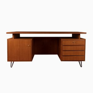 Teak Veneer Desk, 1950s