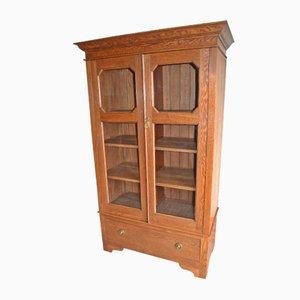 Antiker niederländischer Jugendstil Eichenholz Bücherschrank