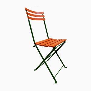 Französischer Klappbarer Gartentisch und Stühle Set, 1920er, 5er Set