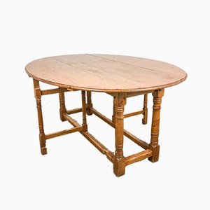 Vintage Pinewood Gateleg Dining Table