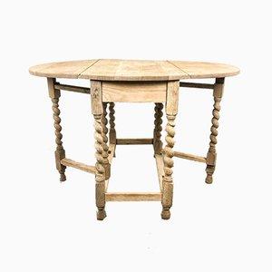 Antique Oak Gateleg Dining Table, 1920s