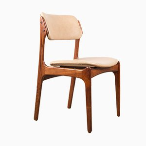 Danish Rosewood and Leather Side Chairs by Erik Buck for Oddense Maskinsnedkeri / O.d. Møbler, 1960s, Set of 4