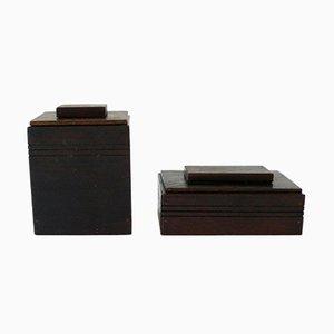 Art Deco Tobacco Boxes, Set of 2