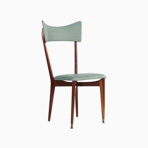 Mintfarbene Esszimmerstühle von Ico Parisi, 19650er, 6er Set