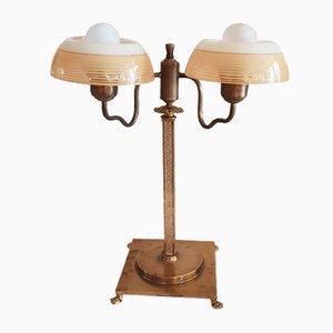 Lampe de Bureau en Laiton Massif, 1970s