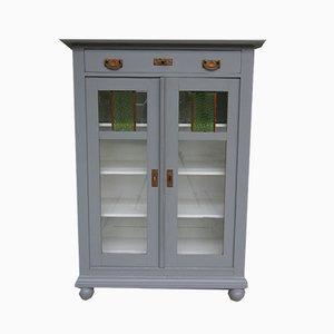 Art Nouveau Gray Painted Softwood Cabinet