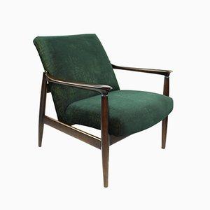 Vintage Green Gold Velvet Armchair by Edmund Homa, 1970s