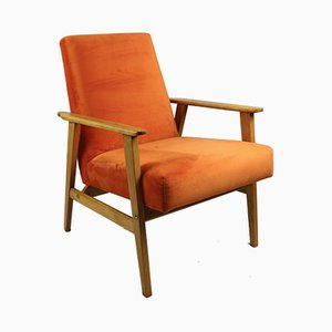 Vintage Orange Easy Chair, 1970s