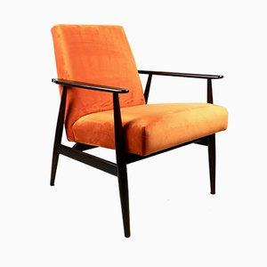 Vintage Fox Orange Easy Chair, 1970s