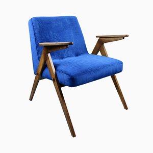 Blauer Sessel von Józef Chierowski, 1970er