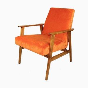 Vintage Orange Easy Chair, 1970s