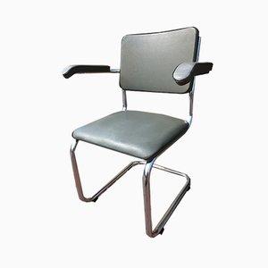 Chromed Metal Armchair, 1930s