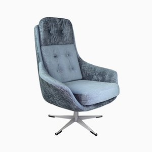Vintage Gray Cosmos Swivel Chair, 1970s