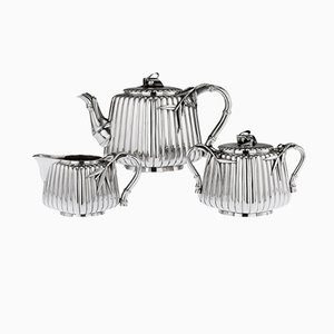 Antique Japanese Meiji Solid Silver Tea Set by Murakami, 1900s, Set of 3