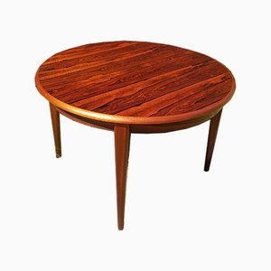 Danish Extendable Rosewood Side Table, 1960s