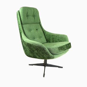 Vintage Green Cosmos Swivel Chair, 1970s