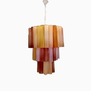Pop Art Murano Glas Kronleuchter von Paolo Venini, 1970er