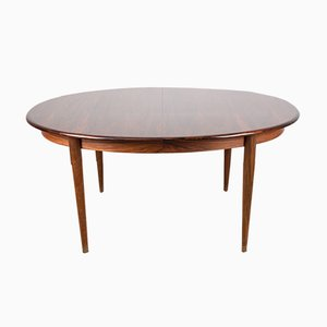 Danish Extendable Oval Rosewood Dining Table by Johannes Andersen for GUDME MOBELFABRIK, 1960s