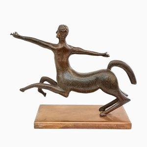 Escultura de centauro de bronce, años 70