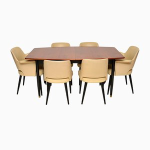 Vintage Dining Table & Chairs Set by Robin Day for Hille, 1950s, Set of 7