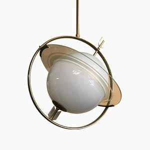 Italian Saturn Chandelier Attributed to Gio Ponti & Emilio Lancia, 1940s