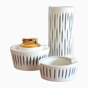 Vases en Porcelaine par Peter Müller pour Sgrafo Modern, 1960s, Set de 2