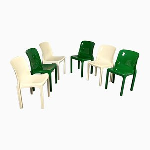 Selene Chairs by Vico Magistretti for Artemide, 1970s, Set of 6