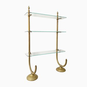Antique French Brass and Glass Shelf