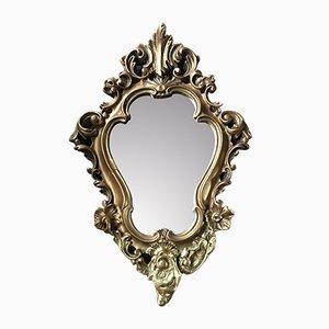 Specchio con cornice in gesso, Regno Unito, anni '90