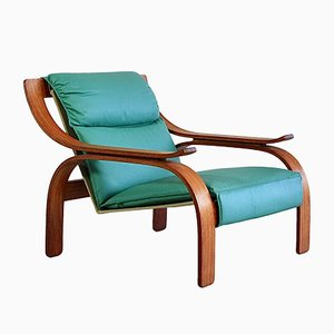 Green Leather Lounge Chairs by Marco Zanuso for Arflex, 1960s, Set of 2
