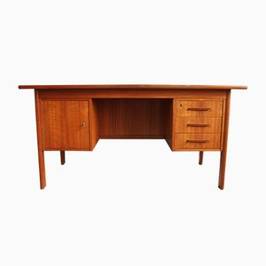 Mid-Century Danish Teak Desk with 3 Drawers, 1960s