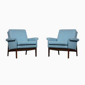Mid-Century Rosewood Model 218 Jupiter Lounge Chairs by Finn Juhl for France & Søn / France & Daverkosen, 1960s, Set of 2