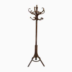 Mid-Century Art Nouveau Style Coat Rack in the Style of Thonet