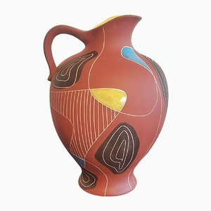 Model Brasil 291/40 Floor Vase by Bodo Mans for Bay Keramik, 1950s