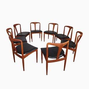 Juliane Esszimmerstühle aus Teak von Johannes Andersen für Uldum Møbelfabrik, 1960er, 8er Set