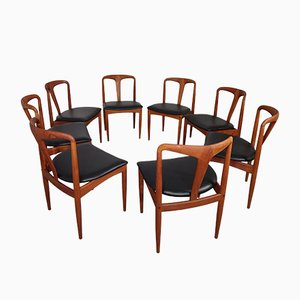 Teak Juliane Dining Chairs by Johannes Andersen for Uldum Møbelfabrik, 1960s, Set of 8