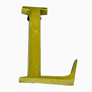 Bronze Letter L Advertising Sign, 1950s